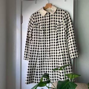 Rare! Vintage Mod Polka Dot Print Dress